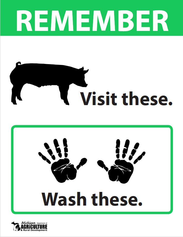 Swine Exhibit Hand Washing Sign