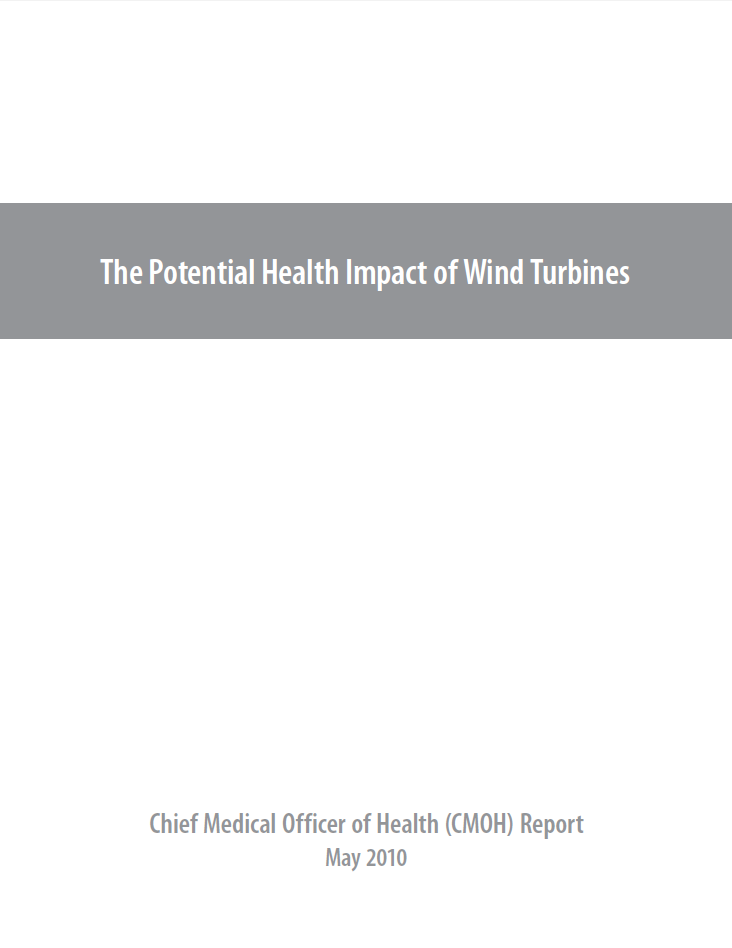 The Potential Health Impact of Wind Turbines